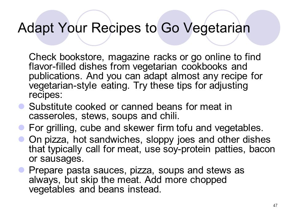 Adapt Your Recipes to Go Vegetarian