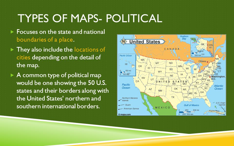Types Of Maps Political