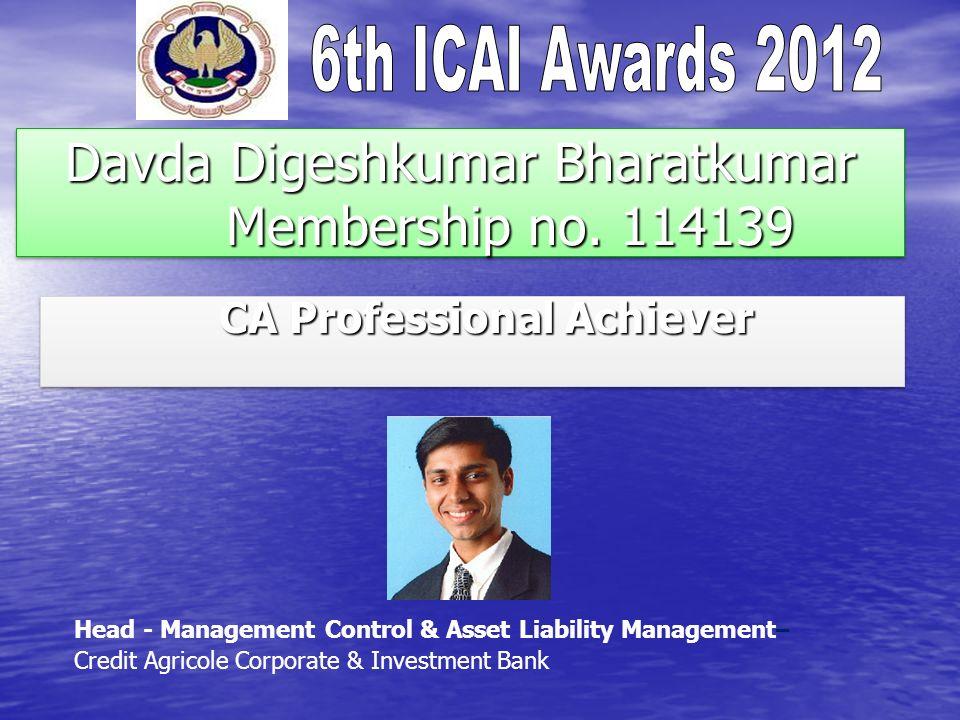 Davda Digeshkumar Bharatkumar Membership no. 114139