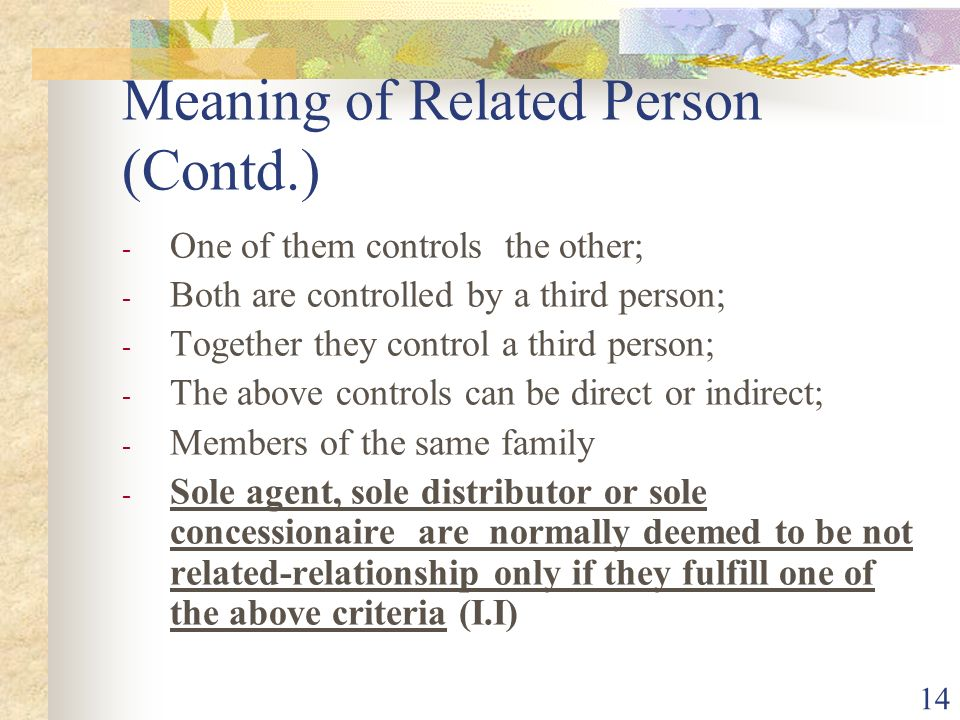 Meaning of Related Person (Contd.)