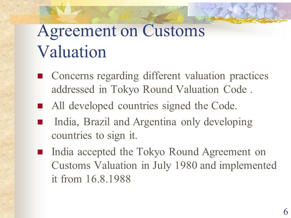 Agreement on Customs Valuation