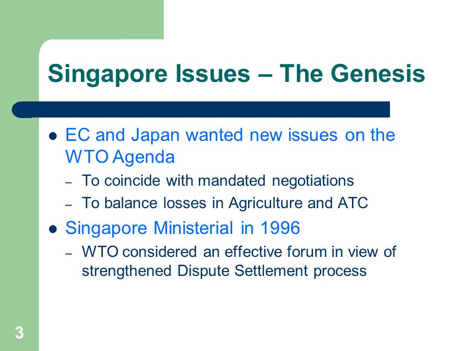 Singapore Issues – The Genesis