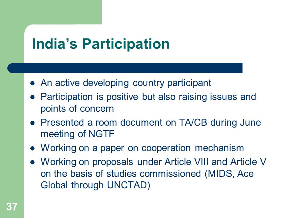 India's Participation