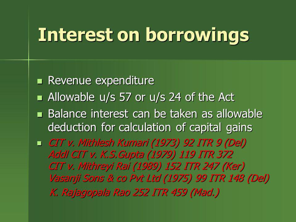 Interest on borrowings