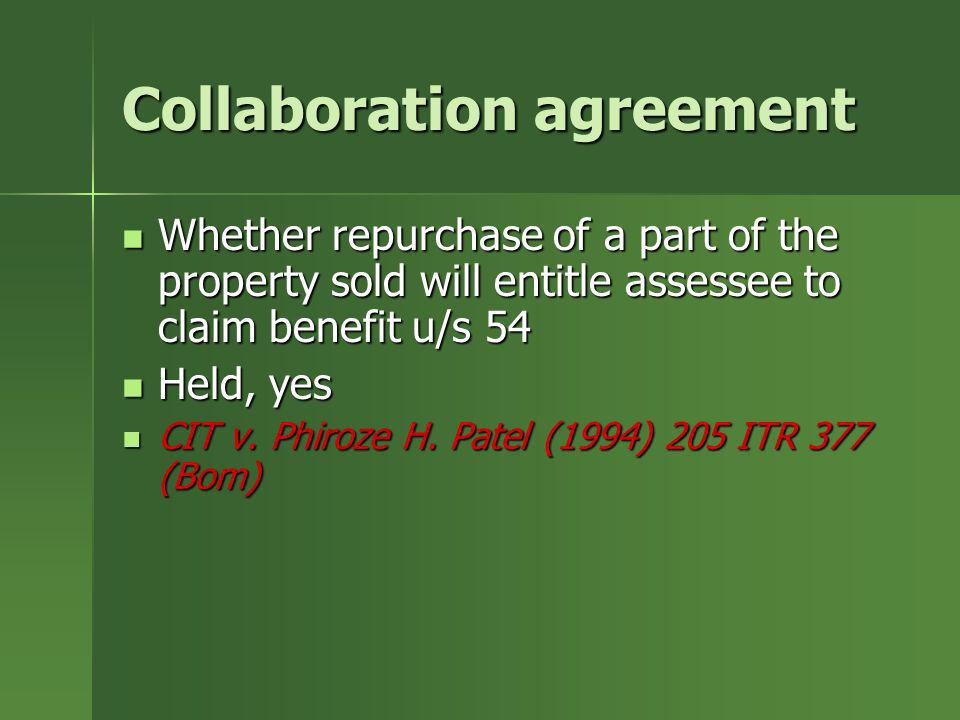 Collaboration agreement