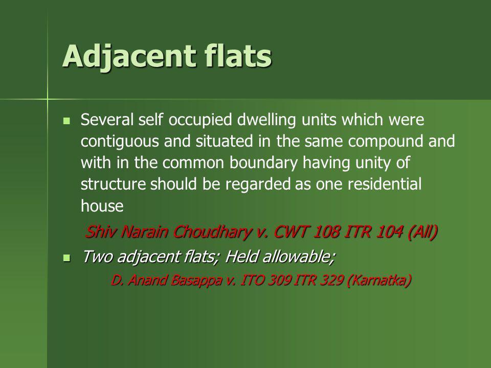 Adjacent flats