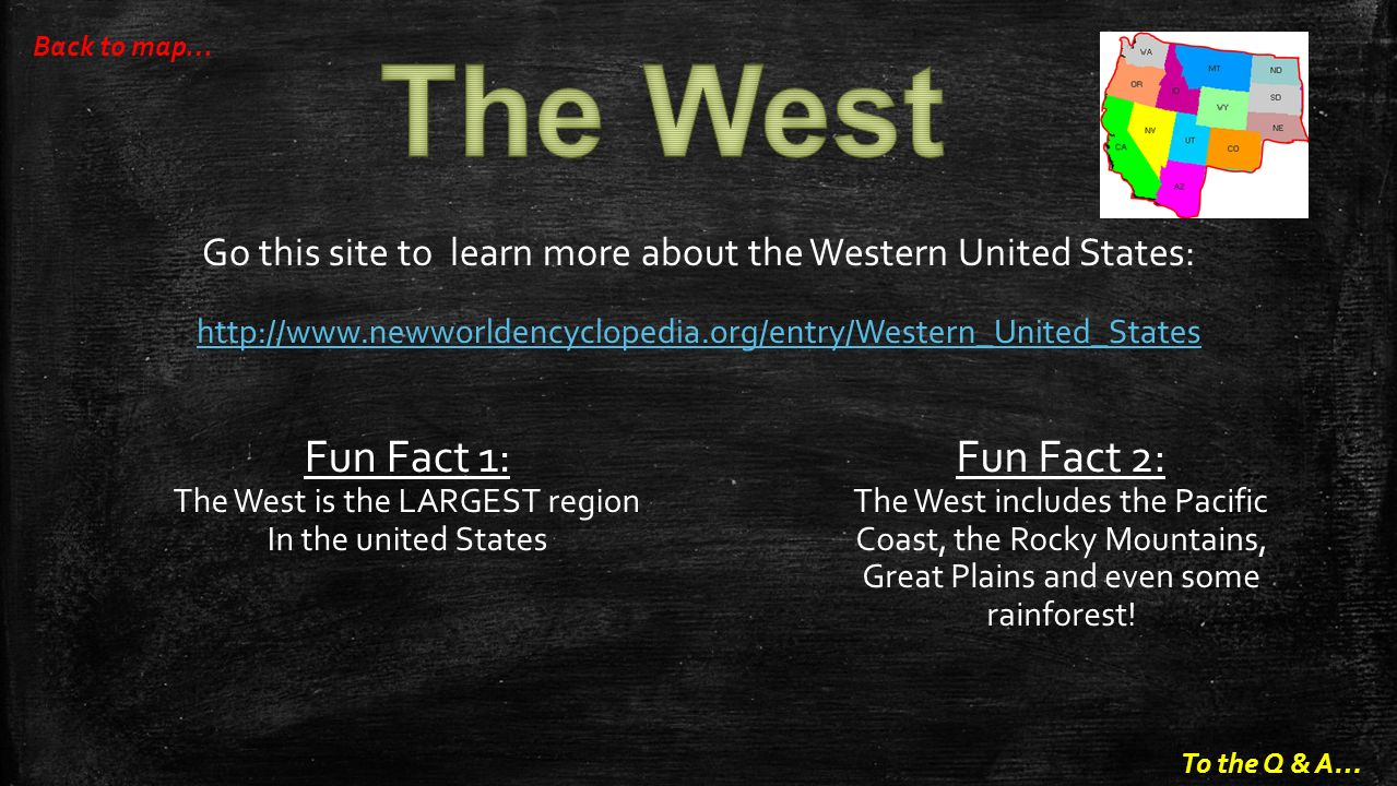 Regions In The United States Ppt Video Online Download - Facts about the west region