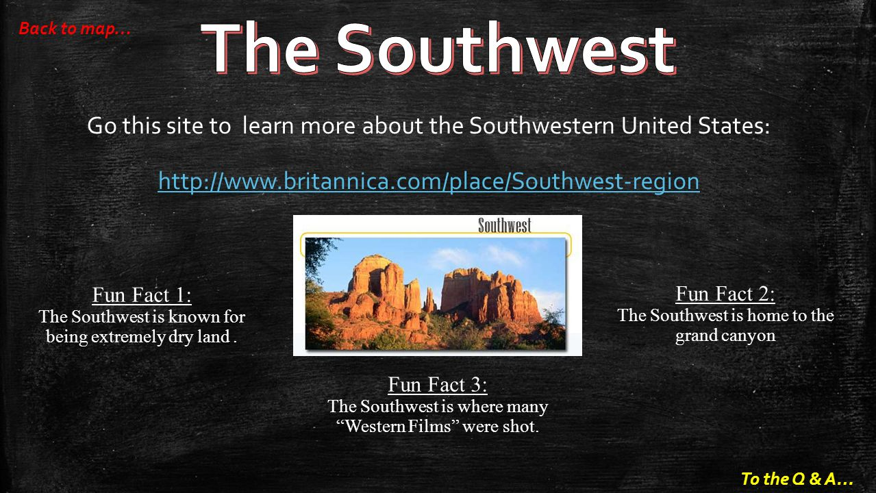 The Southwest Back To Map Go This Site To Learn More About The Southwestern United