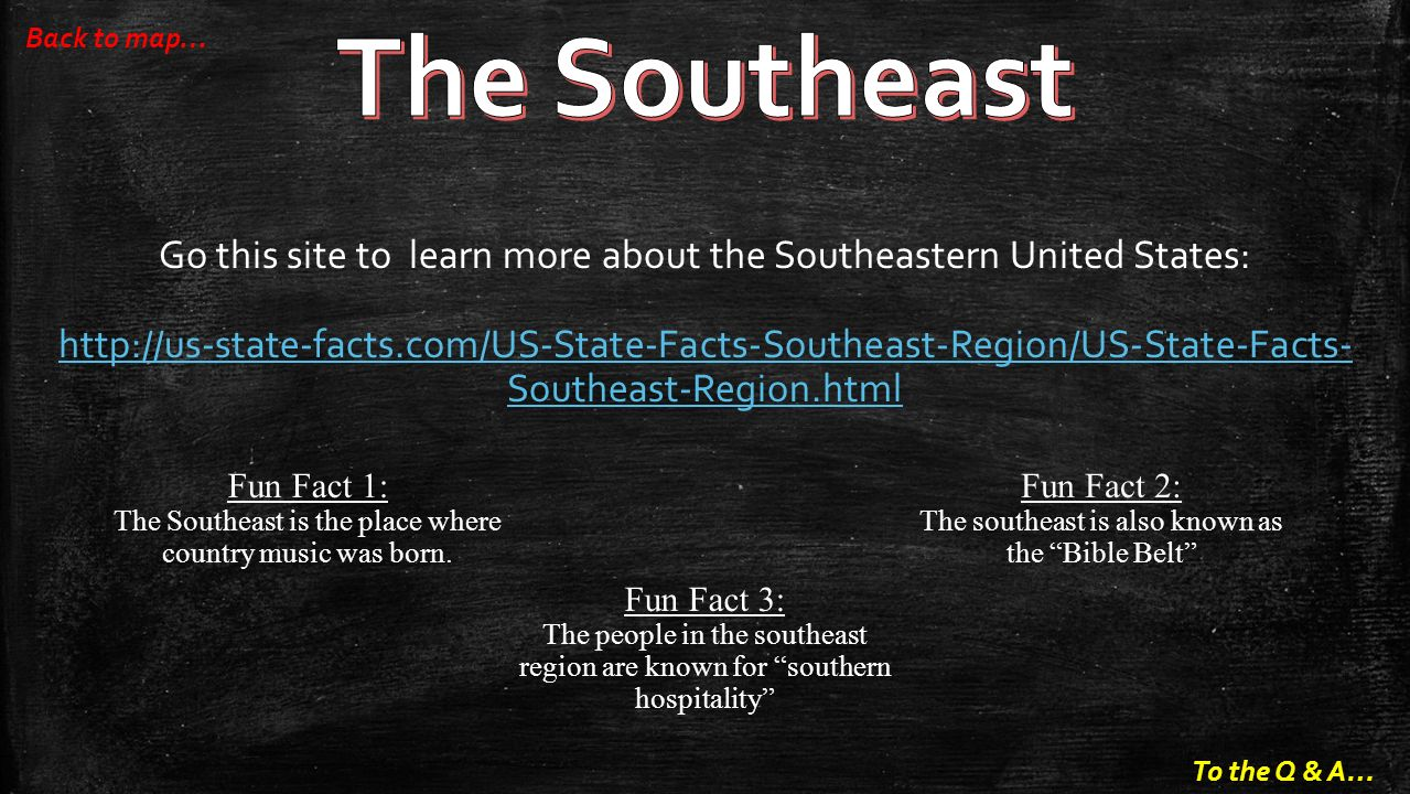 The Southeast Back To Map Go This Site To Learn More About The Southeastern United