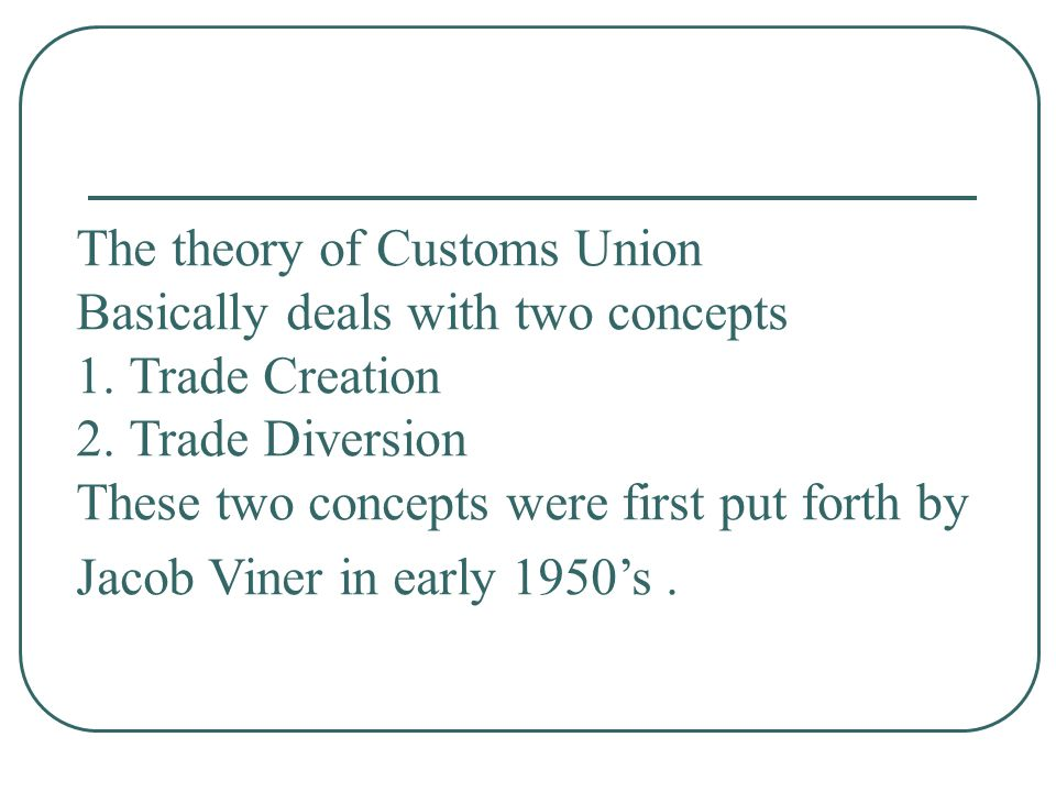 The theory of Customs Union
