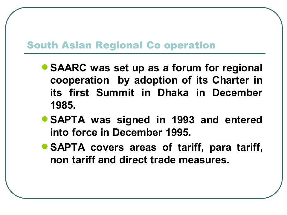 South Asian Regional Co operation