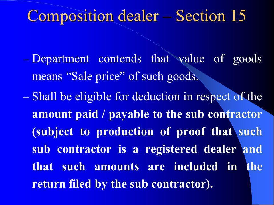Composition dealer – Section 15