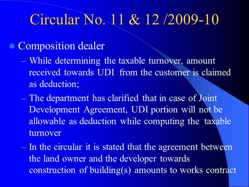 Circular No. 11 & 12 /2009-10 Composition dealer