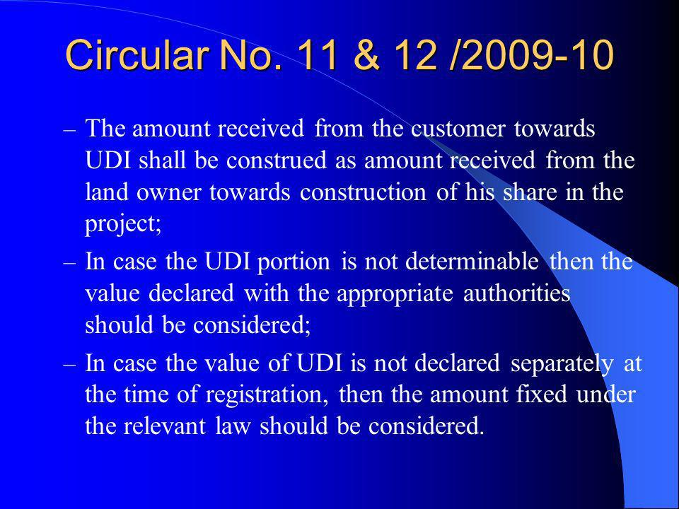 Circular No. 11 & 12 /2009-10