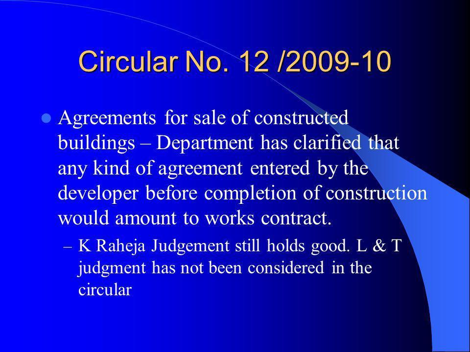 Circular No. 12 /2009-10