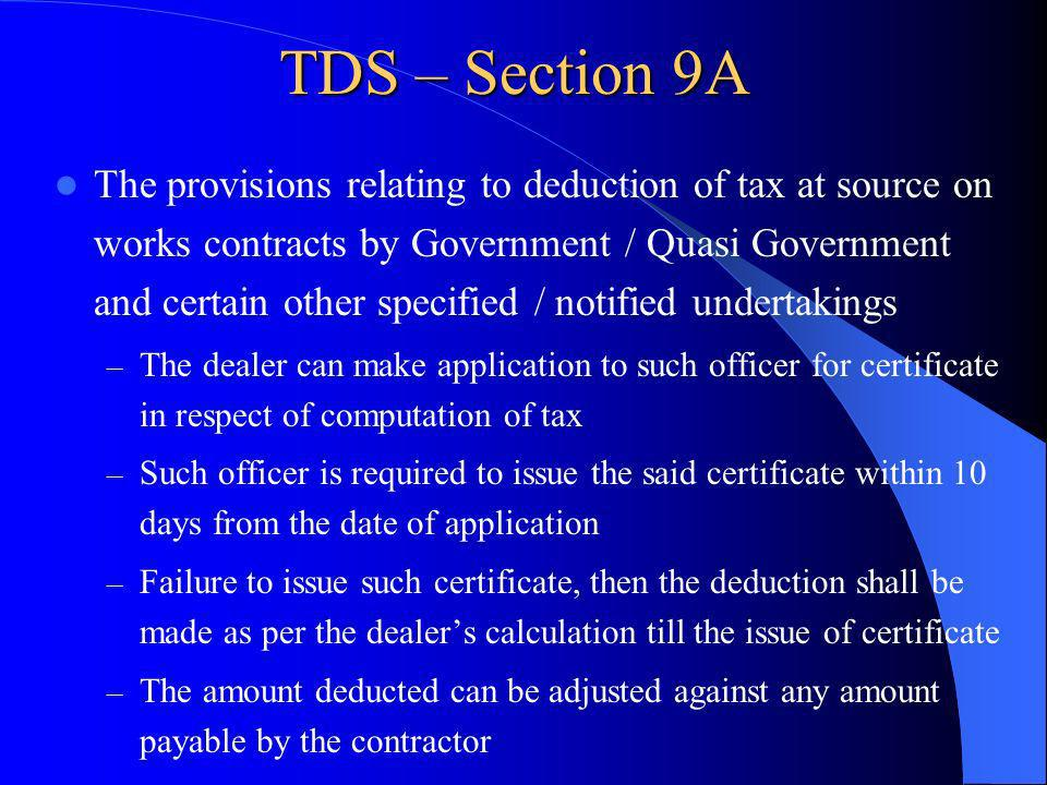 TDS – Section 9A
