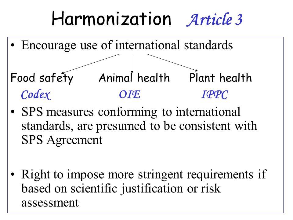 Harmonization Article 3