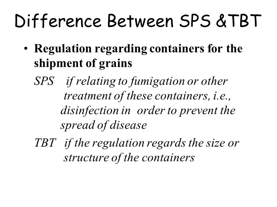 Difference Between SPS &TBT