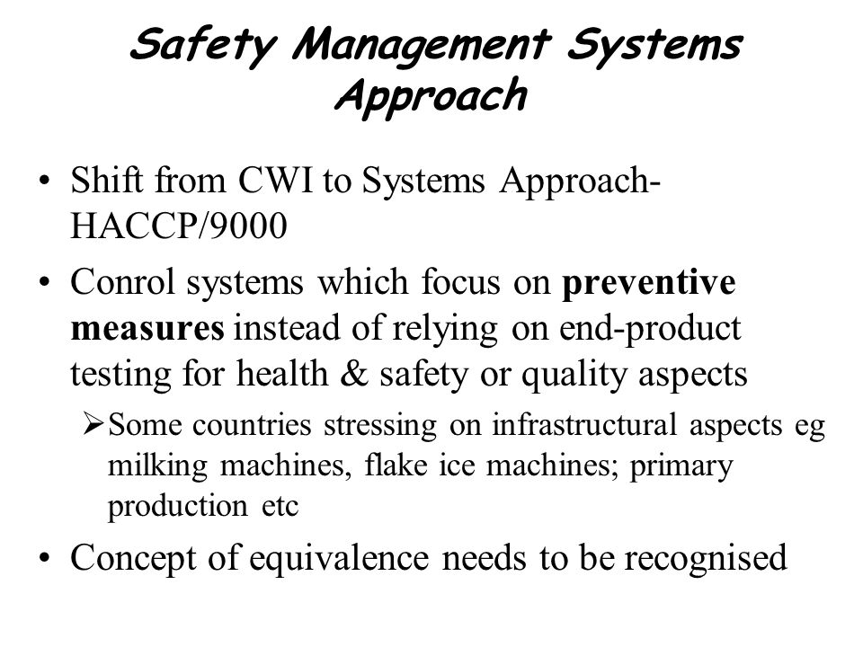 Safety Management Systems Approach