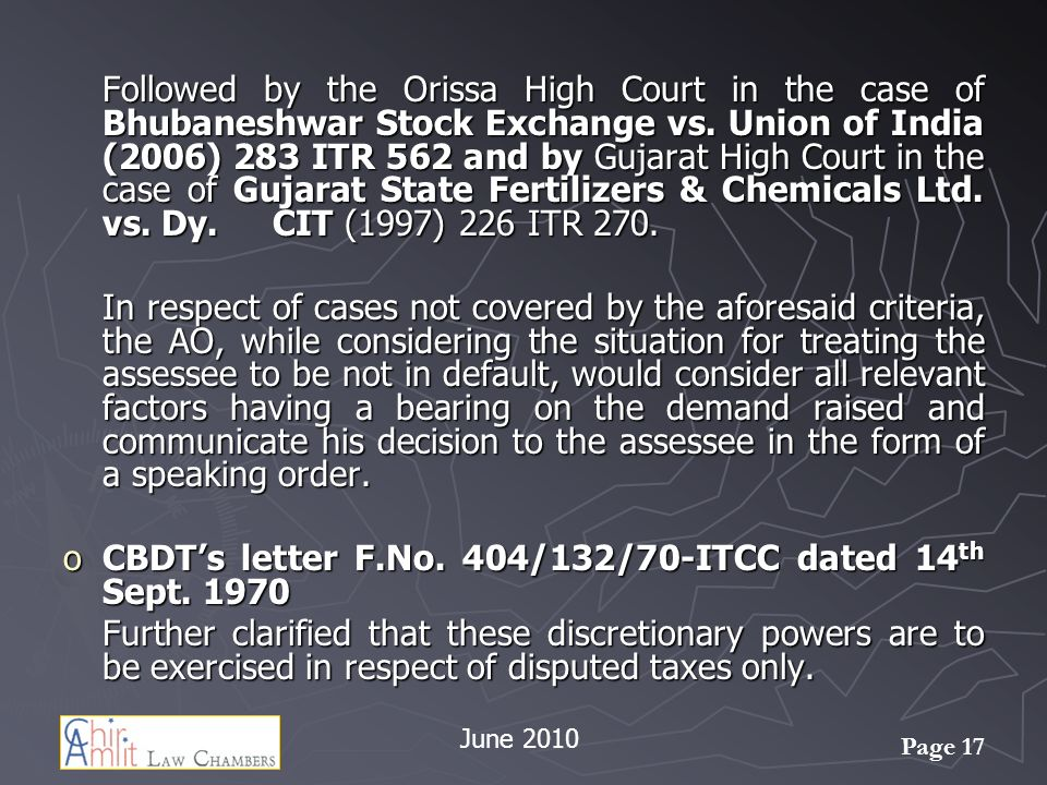 CBDT's letter F.No. 404/132/70-ITCC dated 14th Sept