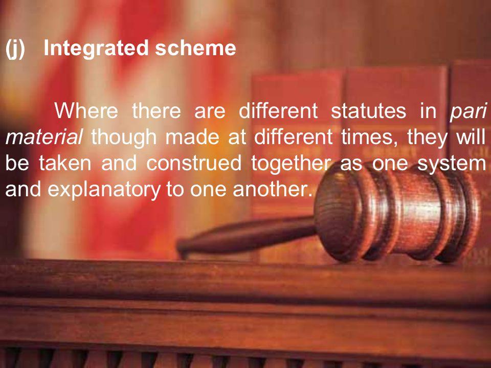 Integrated scheme