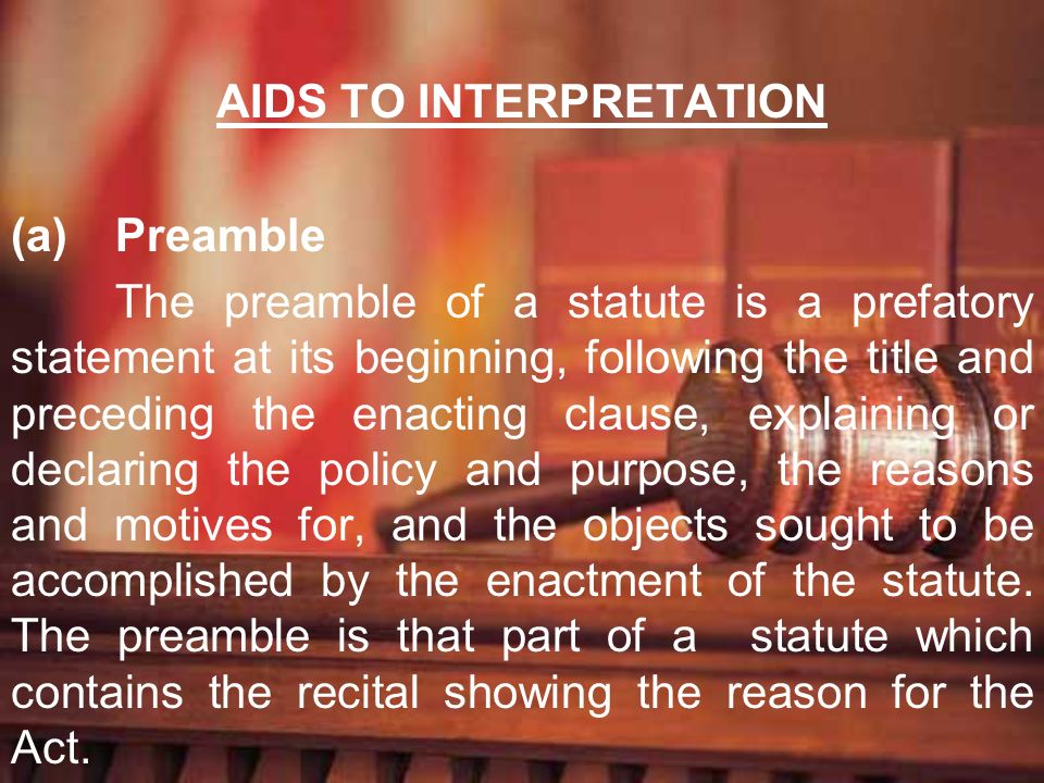 AIDS TO INTERPRETATION