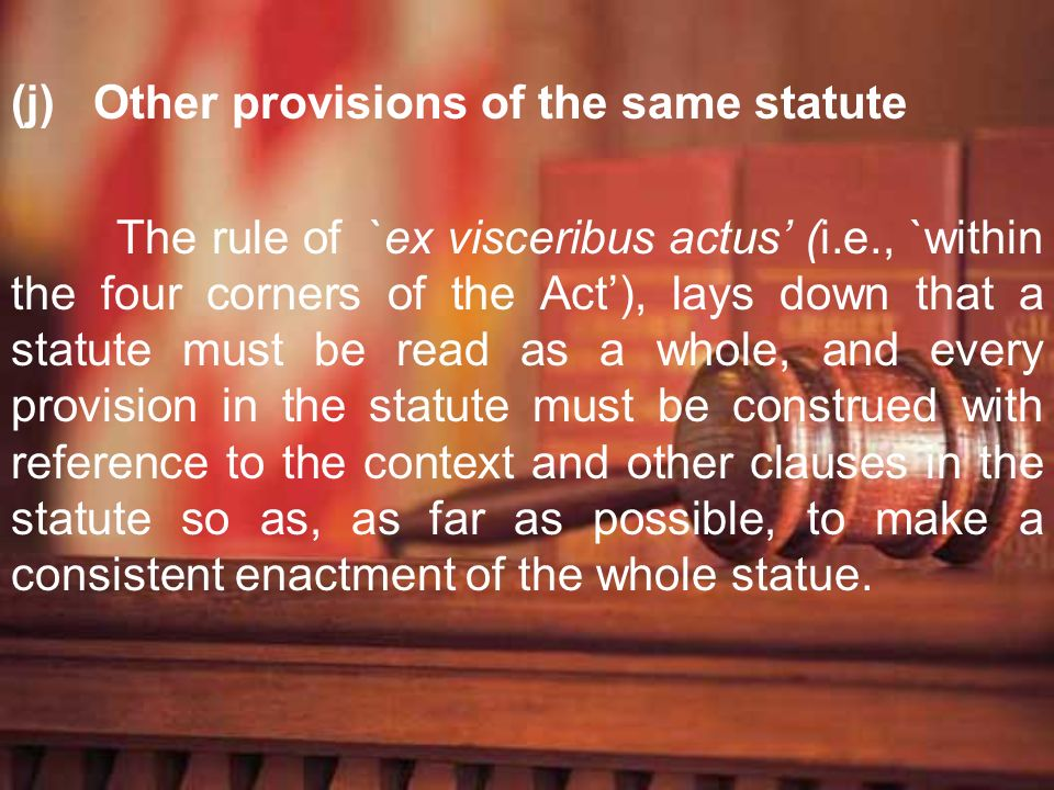 Other provisions of the same statute