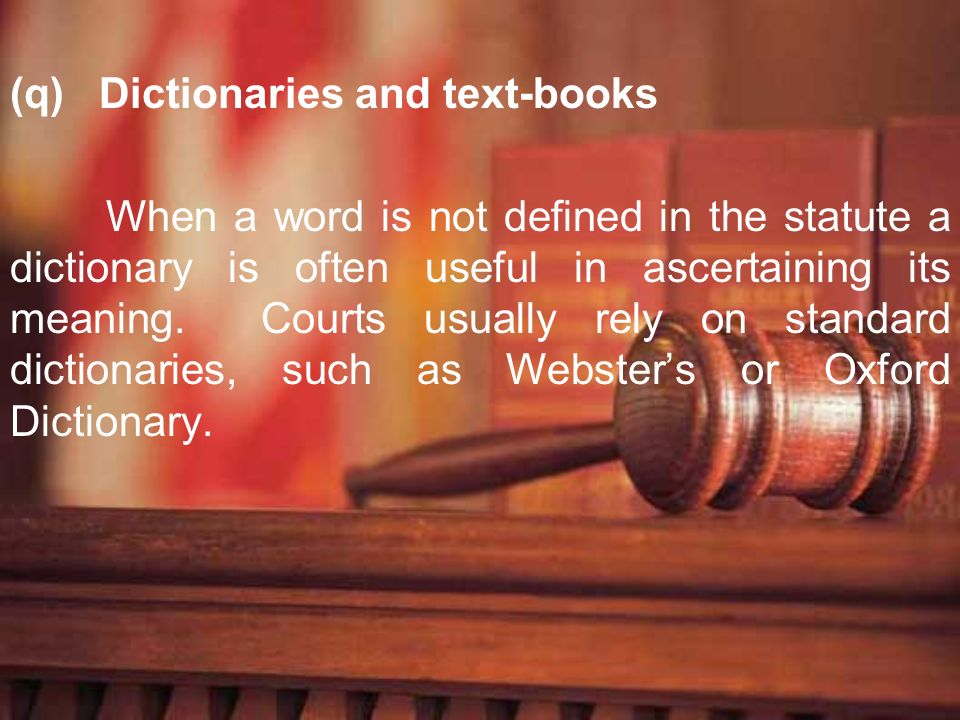 Dictionaries and text-books