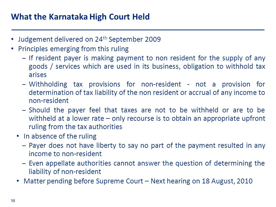 What the Karnataka High Court Held