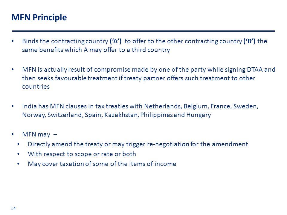 MFN Principle