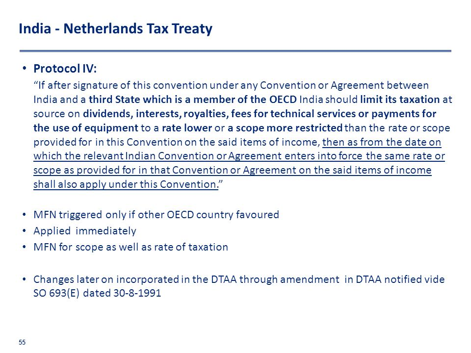 India - Netherlands Tax Treaty