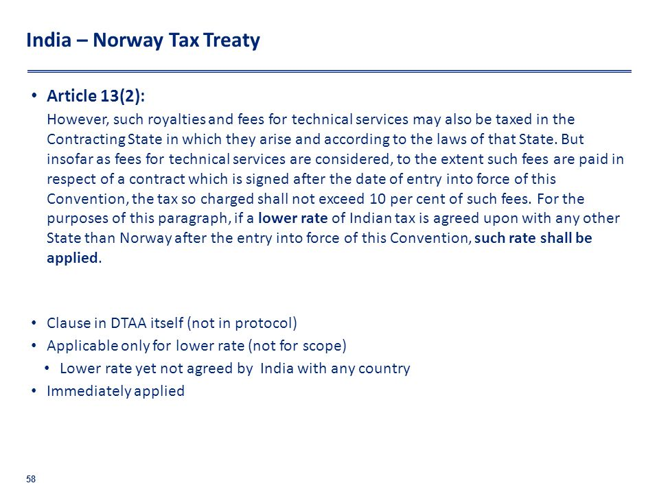India – Norway Tax Treaty