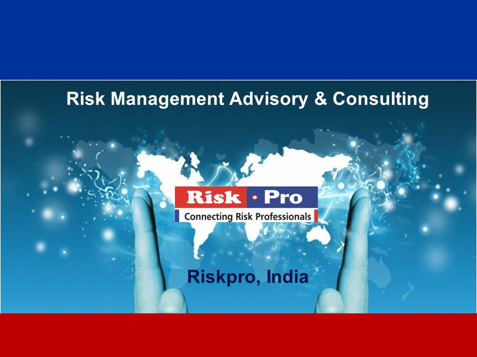 Risk Management Advisory & Consulting Riskpro, India