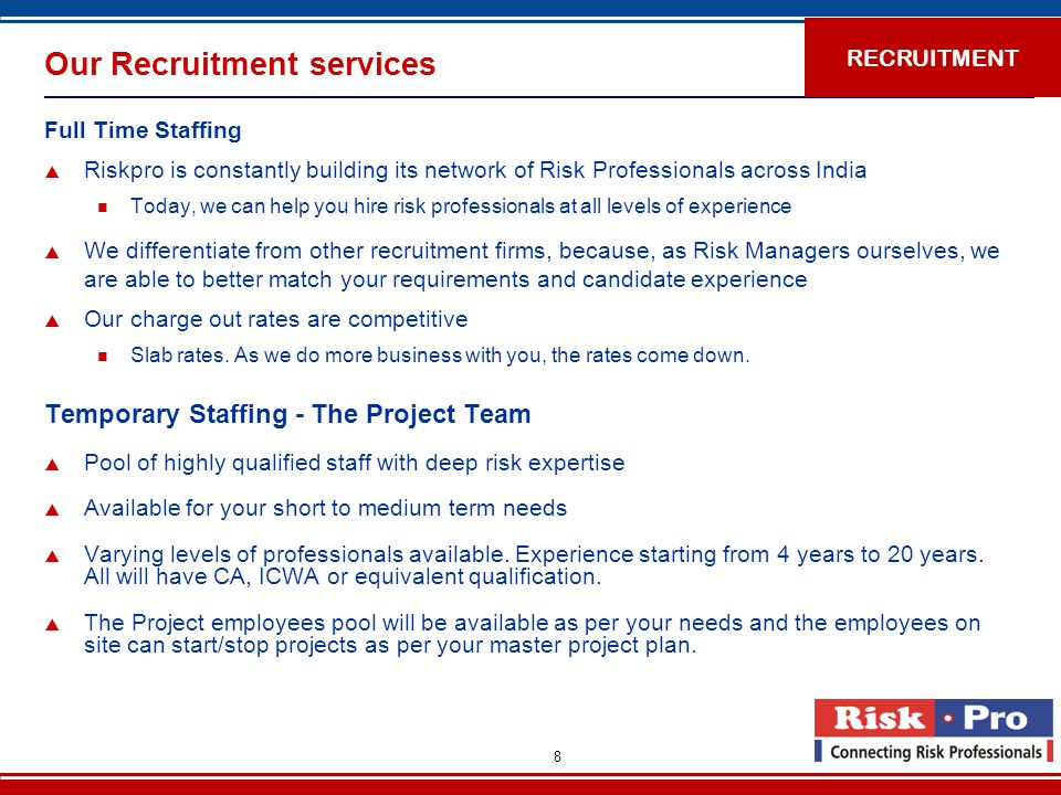Our Recruitment services