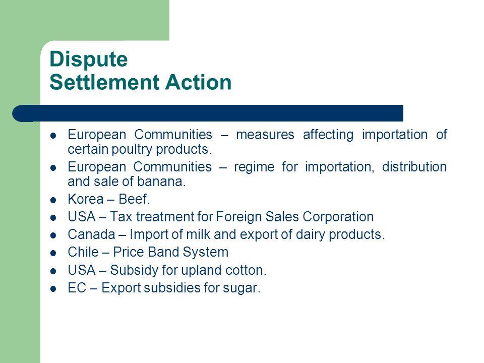 Dispute Settlement Action