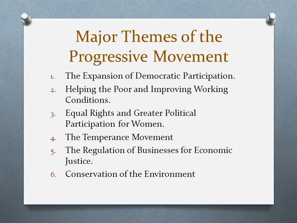 thematic essay on progressive movement Part ii – one thematic essay question part iiia  part iiib – one essay based on  the documents geography  progressive movements.