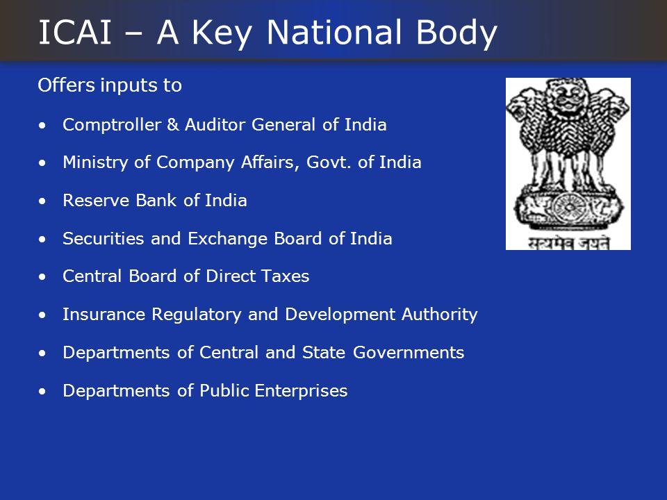 ICAI – A Key National Body
