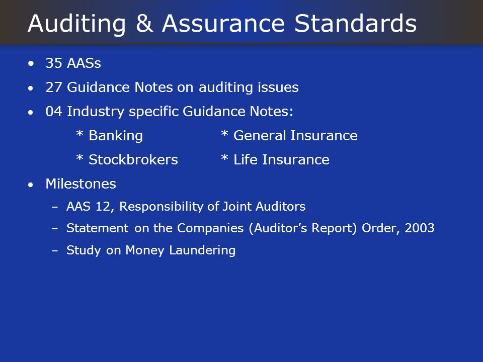 Auditing & Assurance Standards