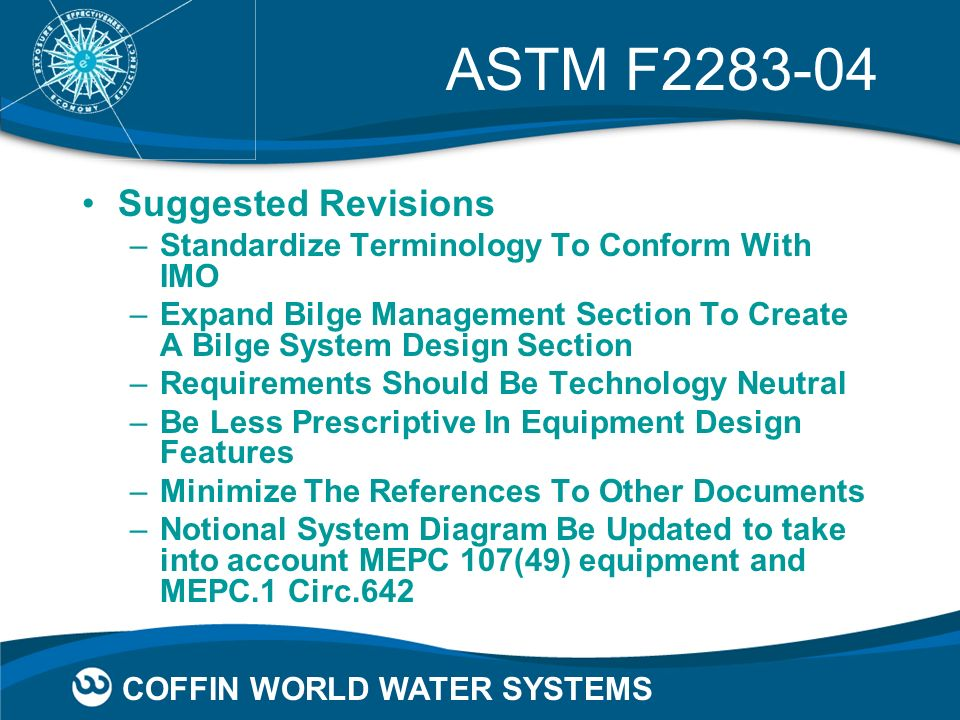 ASTM F2283-04 Suggested Revisions