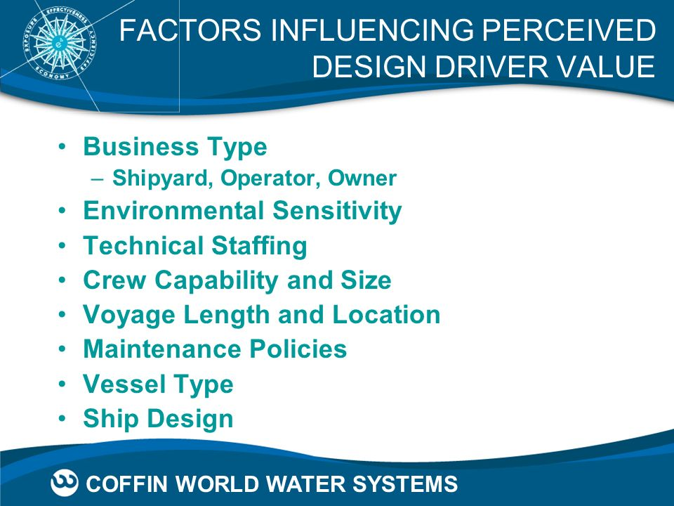 FACTORS INFLUENCING PERCEIVED DESIGN DRIVER VALUE