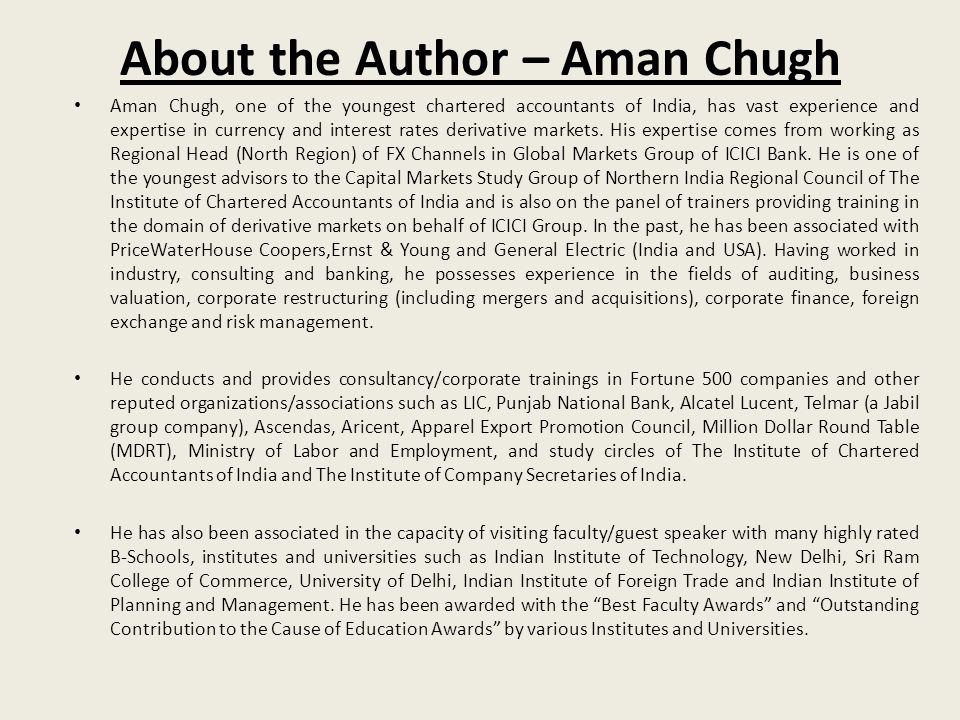 About the Author – Aman Chugh