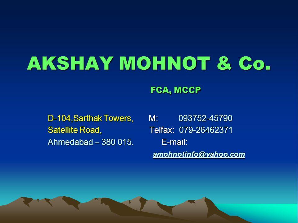 AKSHAY MOHNOT & Co. FCA, MCCP
