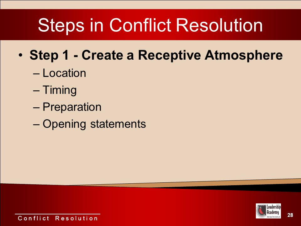 relationship conflict resolution steps