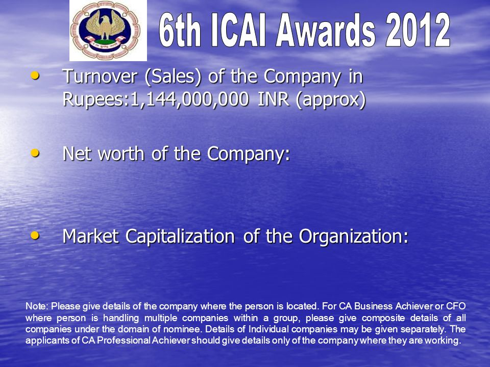 Turnover (Sales) of the Company in Rupees:1,144,000,000 INR (approx)