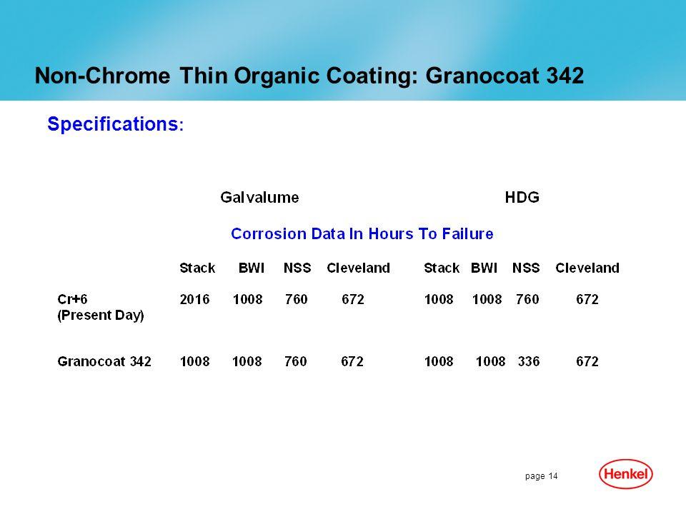 Non-Chrome Thin Organic Coating: Granocoat 342