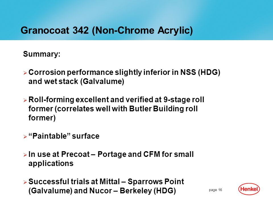 Granocoat 342 (Non-Chrome Acrylic)