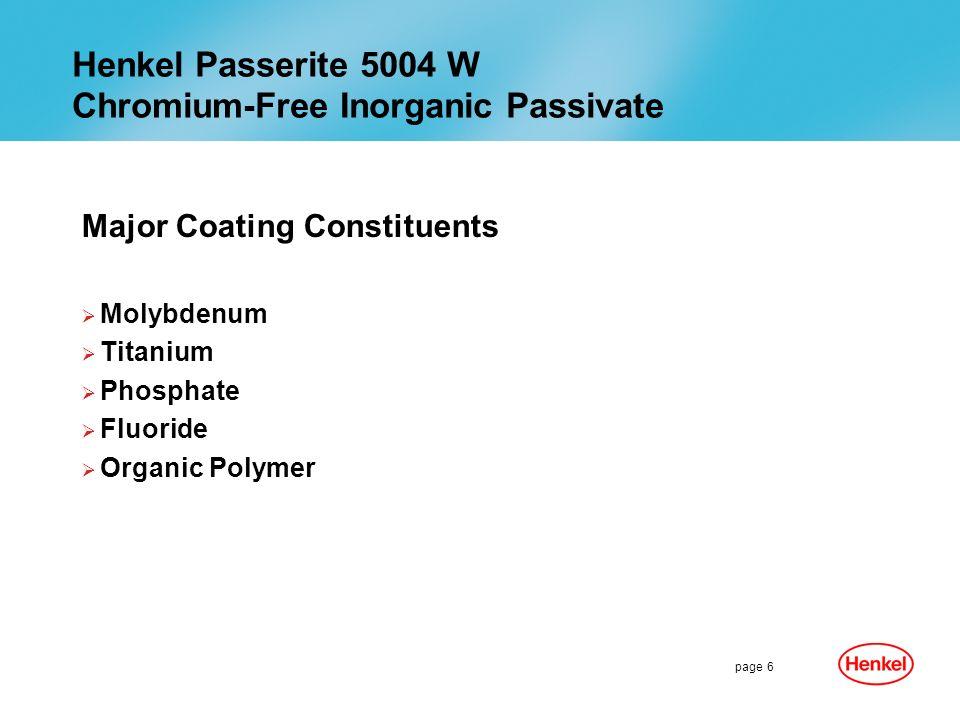 Henkel Passerite 5004 W Chromium-Free Inorganic Passivate