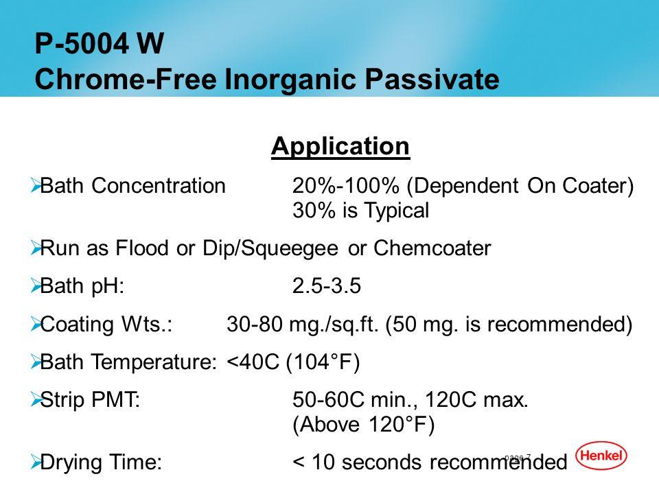 Chrome-Free Inorganic Passivate
