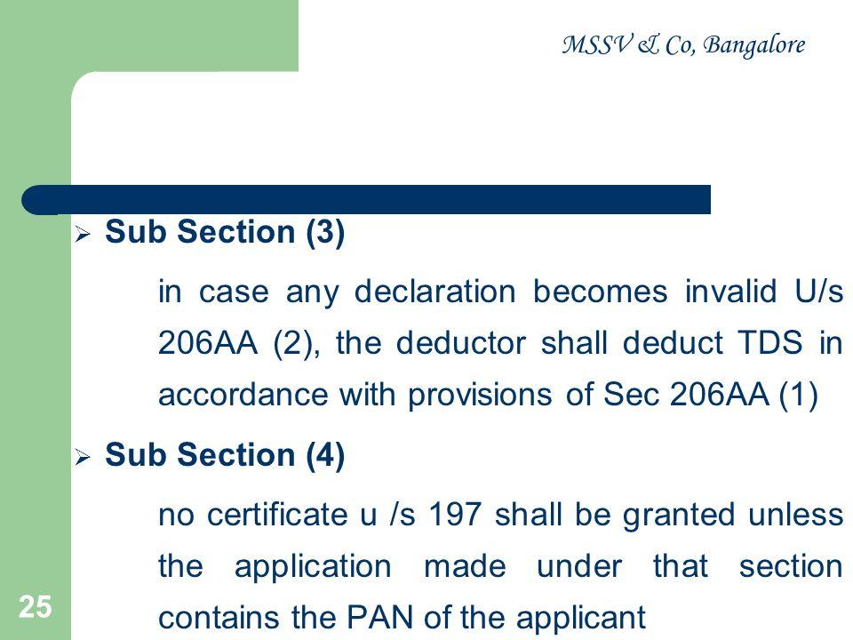 MSSV & Co, Bangalore Sub Section (3)