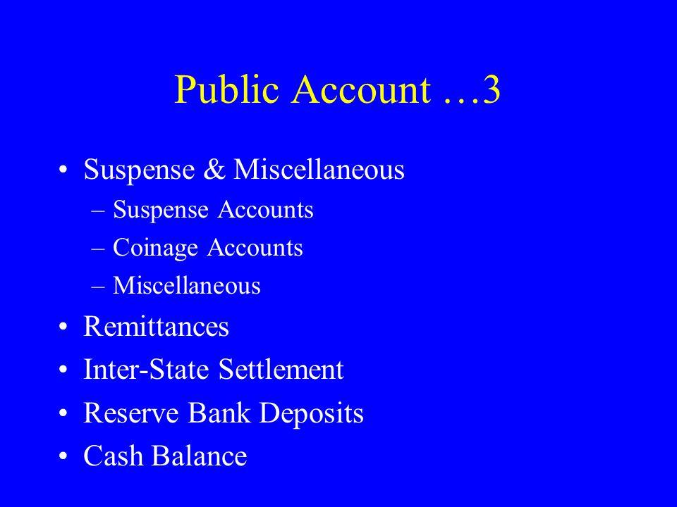 Public Account …3 Suspense & Miscellaneous Remittances